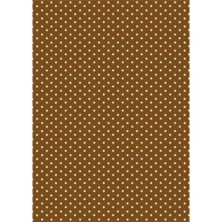 Pergamano paquet papier parchemin pois brun 61573 5 feuilles
