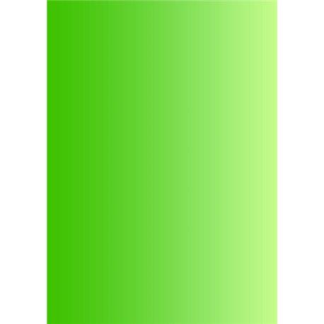 Pergamano paquet papier parchemin vert dégradé 61581 5 feuilles