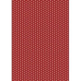 Pergamano paquet papier parchemin étoiles rouge 61822 5 feuilles