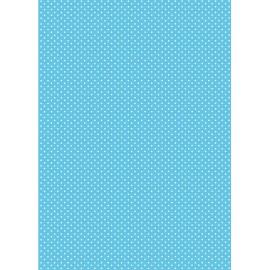Pergamano papier parchemin A4 150 gr 1 fe turquoise pois blanc -61618-