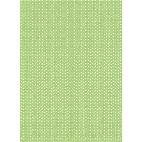 Pergamano papier parchemin A4 150 gr 1 fe vert anis pois blanc -61619-