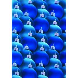 Pergamano paquet papier parchemin vellum boule Noel bleu 5 feuilles // Ce produit n'est plus fabriqué