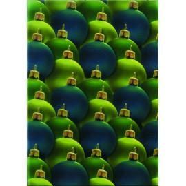 Pergamano paquet papier parchemin vellum boule Noel vert 5 feuilles