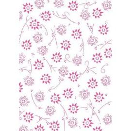 Pergamano paquet papier parchemin fleurs en rose métallique 5 feuilles // Ce produit n'est plus fabriqué