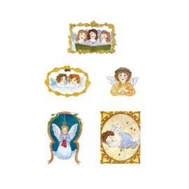 Pergamano paquet papier parchemin anges de noel 61825 5 feuilles -SOL // Ce produit n'est plus fabriqué