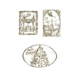 Pergamano paquet papier parchemin noel église contours 61830 5 feuilles // Ce produit n'est plus fabriqué
