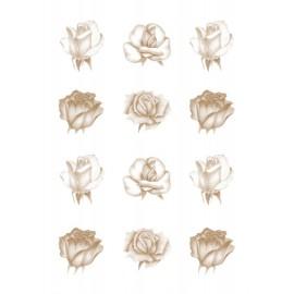 Pergamano paquet papier parchemin vellum roses cuivre 62550 5 feuilles // Ce produit n'est plus fabriqué