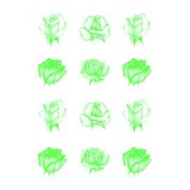 Pergamano paquet papier parchemin vellum roses verte 62552 5 feuilles // Ce produit n'est plus fabriqué