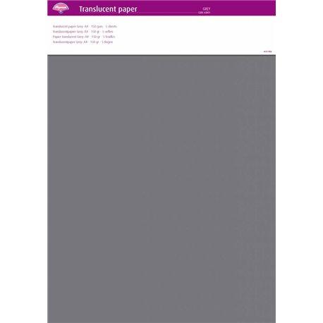Pergamano papier parchemin translucent gris 63001