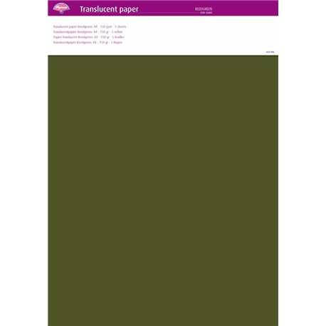 Pergamano papier parchemin translucent vert herbe 63005