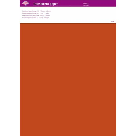 Pergamano papier parchemin translucent orange 63008