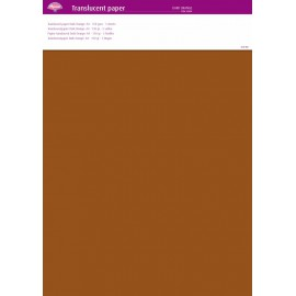 Pergamano papier parchemin translucent orange foncé 63009