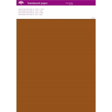 Pergamano papier parchemin translucent orange foncé 63009