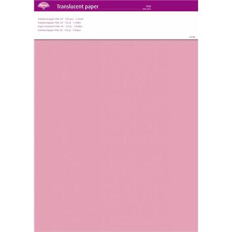 Pergamano papier parchemin translucent rose 63014