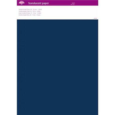 Pergamano papier parchemin translucent bleu navy 63017