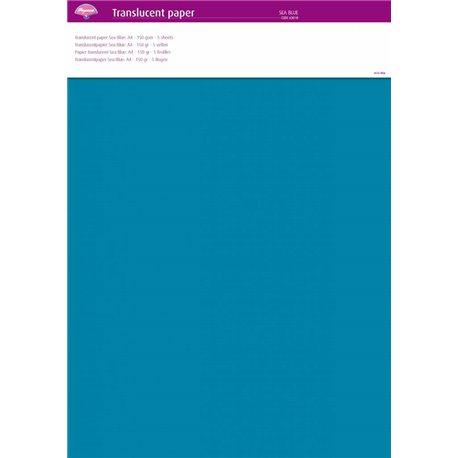 Pergamano papier parchemin translucent bleu mer 63018