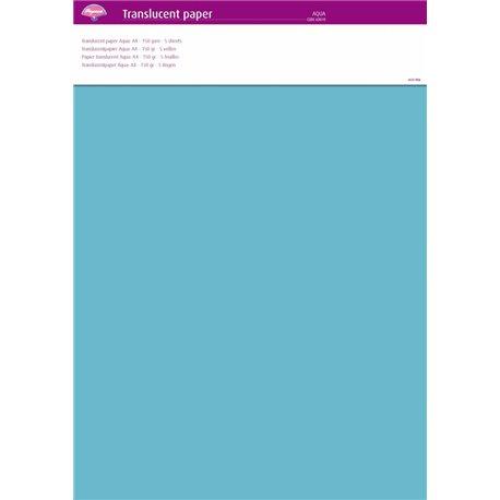Pergamano papier parchemin translucent bleu aqua 63019