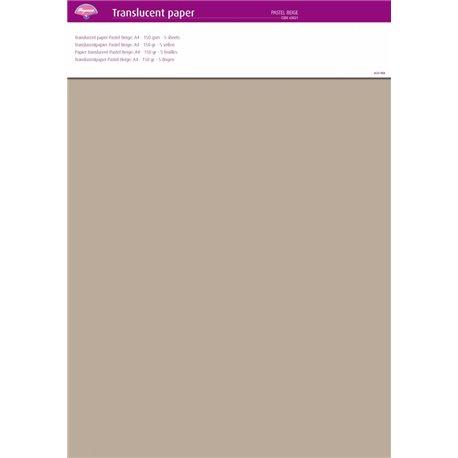Pergamano papier parchemin translucent beige 63021