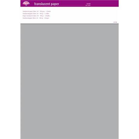 Pergamano papier parchemin translucent argent 64002
