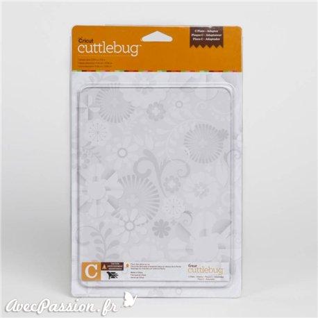 Plaque de coupe C Cuttlebug qu1