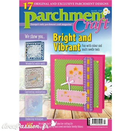 Parchment Craft magazine Pergamano juillet 2015 Bright an Vibrant