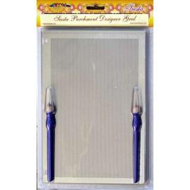 Grille parchemin Siesta large diagonale + tapis 25x18cm SPB019L