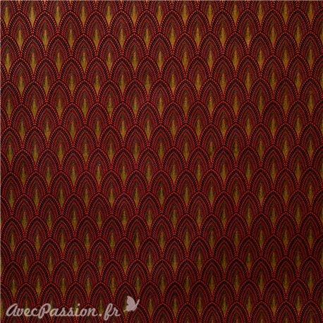 Papier fantaisie joséphine rouge et or