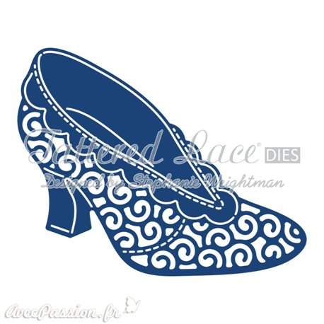 Dies découpe gaufrage matrice Tattered Lace chaussure 1 dies