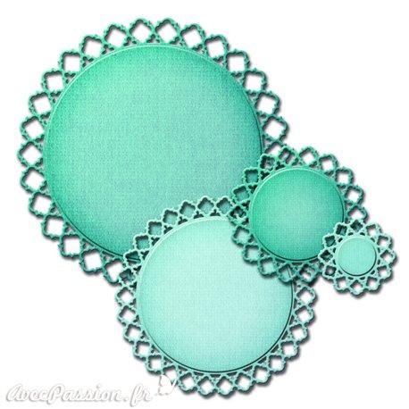 Dies découpe gaufrage rond diamondessence Spellbinders