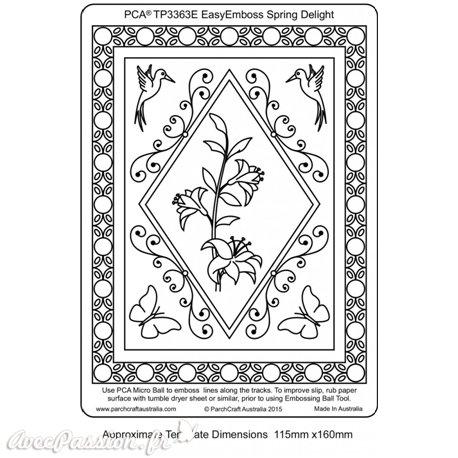 Template gabarit parchemin cadre rectangle fleurs et papillons