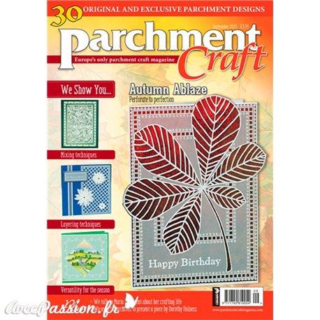 Parchment Craft magazine Pergamano septembre 2015 Automn Ablaze