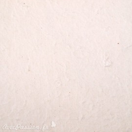 Papier fantaisie écologique fait main blanc