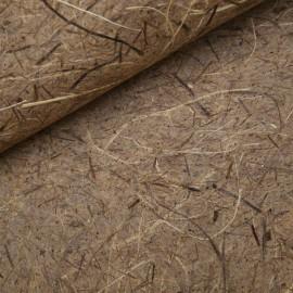 papier noisette Grasse écological avec fibres marron