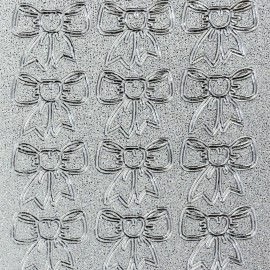Sticker peel off adhésif argent noeud en ruban