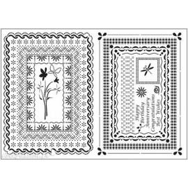 Grille parchemin Siesta bordures Alison Yeate 21x15cm