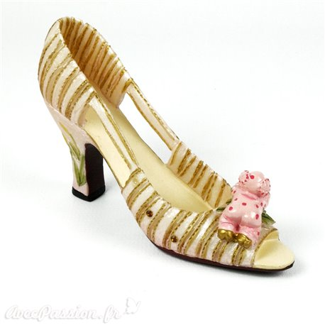 Chaussure miniature collection cochon
