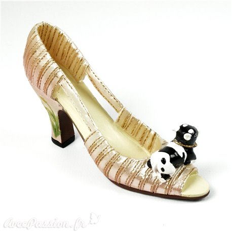 Chaussure miniature collection vache