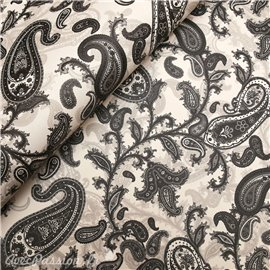 Papier tassotti motifs volutes noir et gris
