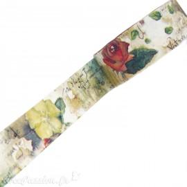 Masking tape shabby chic fleurs et poésie papier adhésif washi