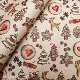 Papier tassotti motifs biscuits de noël