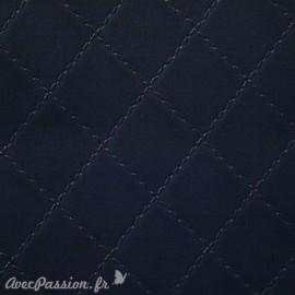 Papier simili cuir diamond bleu nuit