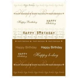 Pergamano paquet papier parchemin fête traditionnelle texte 5 feuilles // Ce produit n'est plus fabriqué