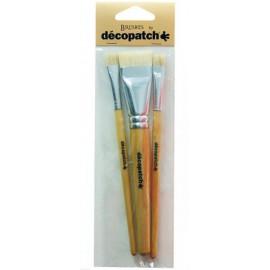 Pinceau à colle poils soie décopatch 10 et 30 - 1 et 3cm