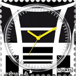 Cadran waterproof de montre Stamps moto cross
