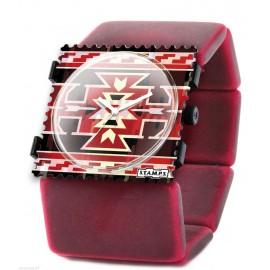 Montre Stamps bracelet de montre élastique belta indian rouge