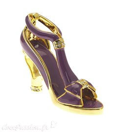 Chaussure miniature collection saloma sophia violet or