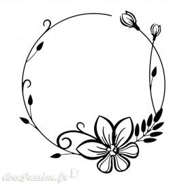 Classeur gaufrage cadre fleurs Nellie Snellen