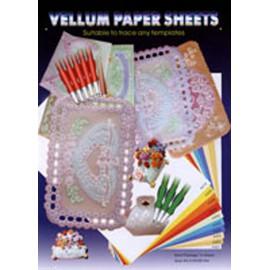 Papier parchemin Siesta blanc irisé A4 10fe