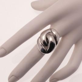 Bague Ubu chaine métal argenté réglable