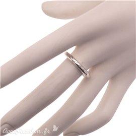 Bague Ubu taille 56 à composer anneau rond ciselé métal argent -